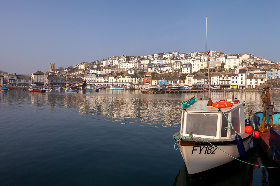 A boat at Brixham Harbour near Torquay- Devon